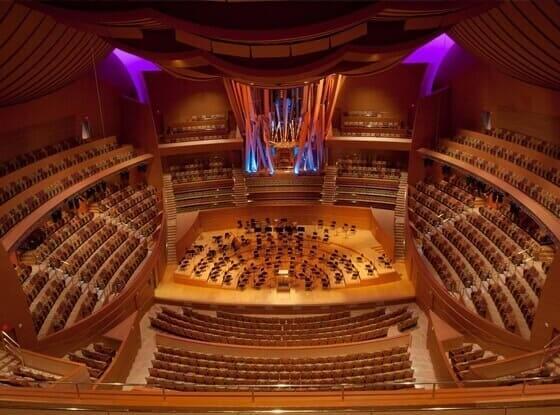 Frank Gehry: Walt Disney Concert hall (interior)