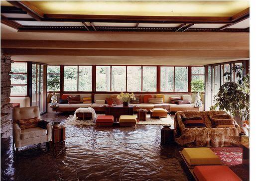 Frank Lloyd Wright: Casa da Cascata (interior)