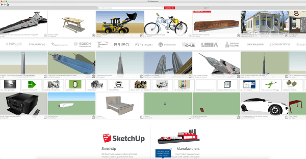 O que é SketchUp: Warehouse