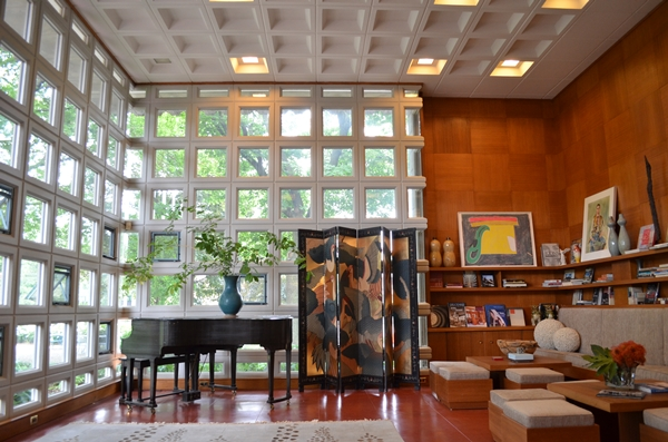 obras de frank lloyd wright: turkel house - interior