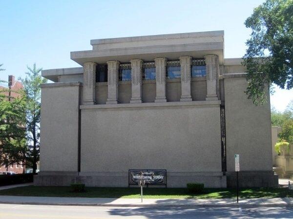 Obras de Frank Lloyd Wright: Unity Temple (lateral)