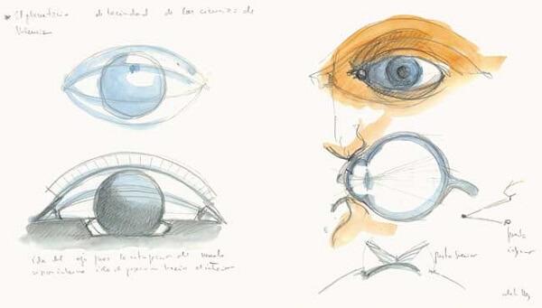 Santiago Calatrava: croqui Olho Hemisferic