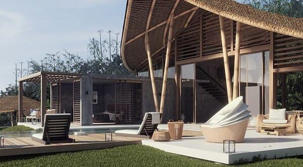 V-ray: projeto de casa de madeira renderizado no V-ray