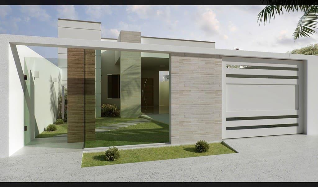 Vray: exemplo de projeto de casa renderizado no Vray