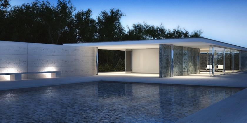 Mies van der rohe o mestre do minimalismo na arquitetura for Casa minimalista de mies van der rohe