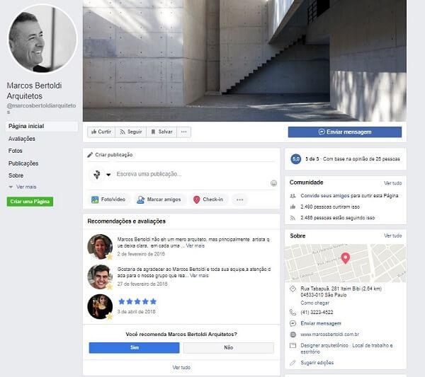 Como criar uma página no Facebook: Marcos Bertoldi