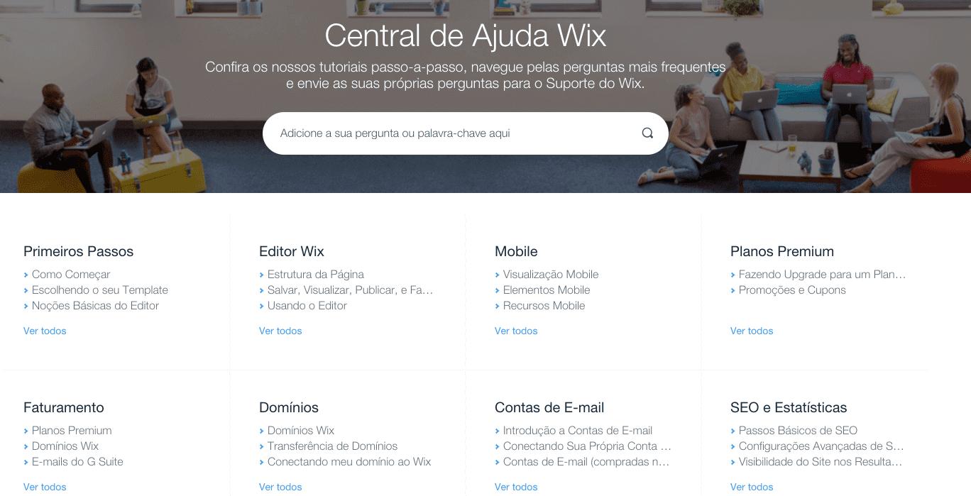 Wix ou wordpress: suporte wix