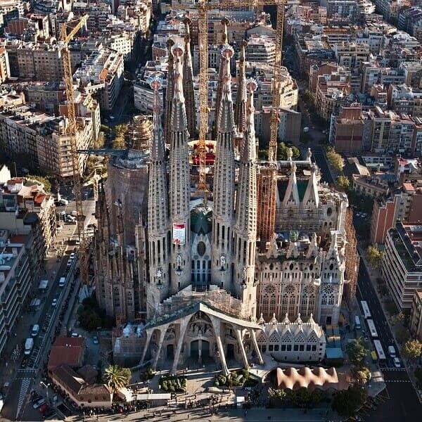 Antoni Gaudí: Sagrada Família - Vista aérea
