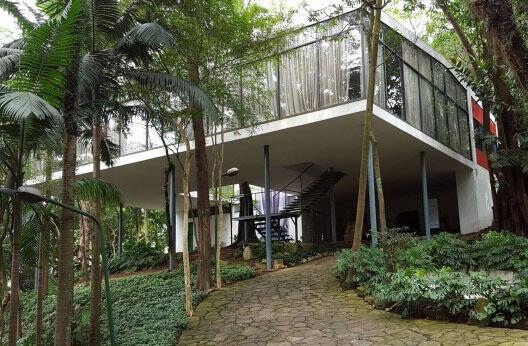 Casa de Vidro: Entrada