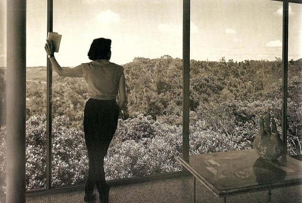 Casa de vidro: vegetação
