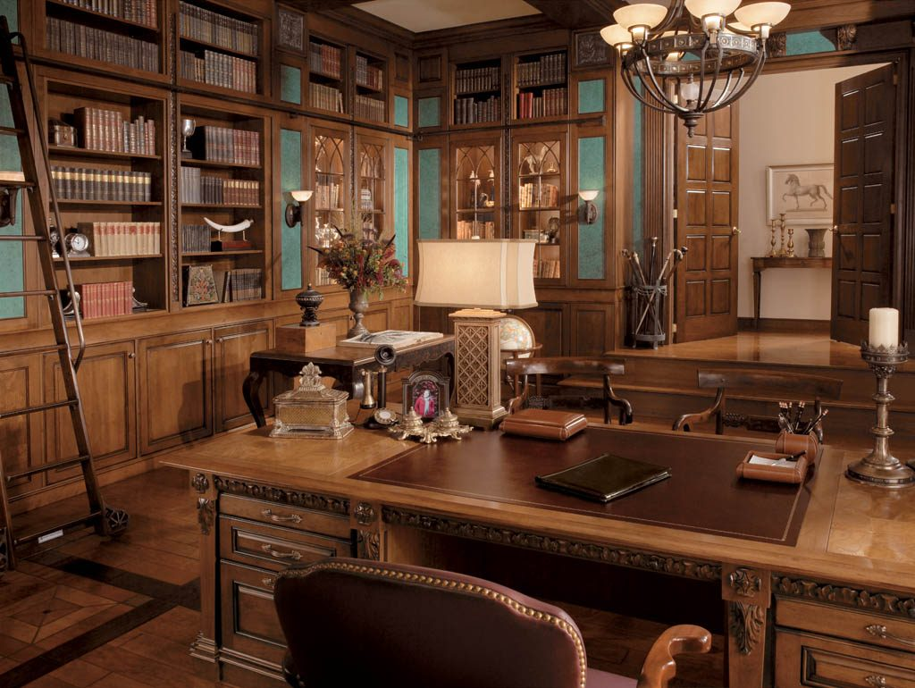 cores-na-arquitetura-biblioteca-marrom