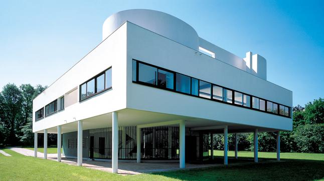 Qué es pilotis: Villa Savoye