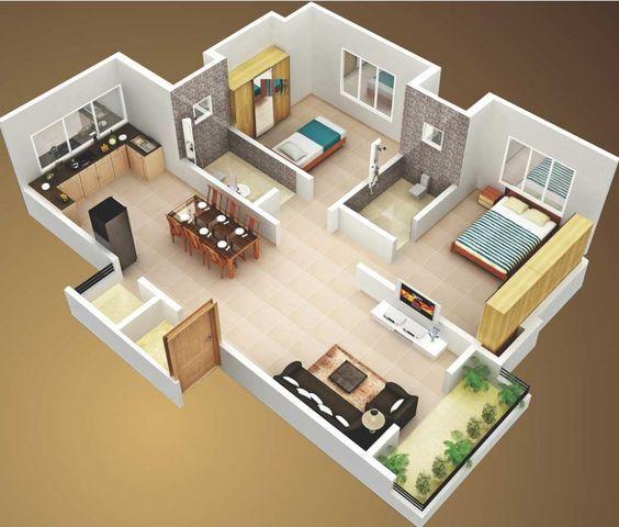 Jogos de decoração: Exemplo de casa decorada no The Sims