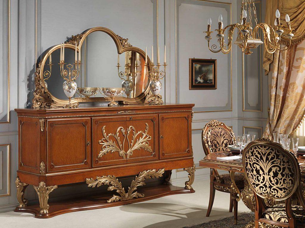 como-usar-espelho-na-decoracao-buffet-classico-com-espelho