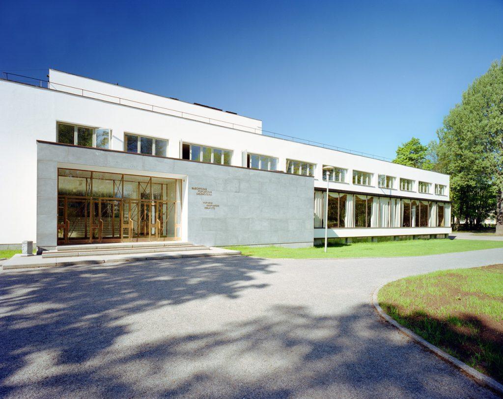 obras de alvar aalto: biblioteca de viipuri - exterior