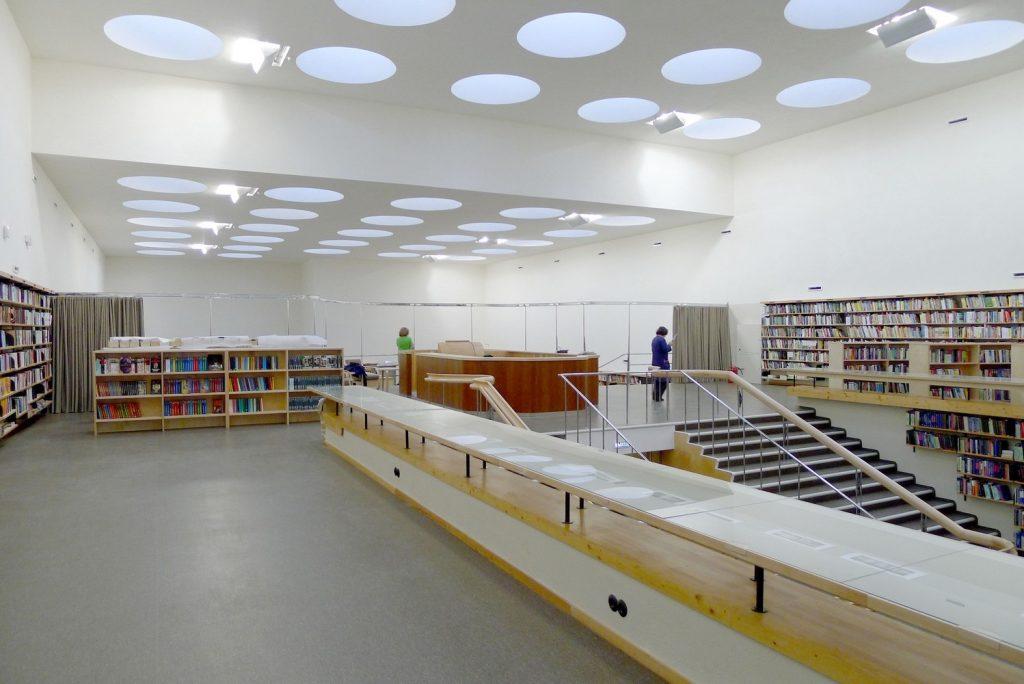 obras de alvar aalto: biblioteca de viipuri - interior restaurado
