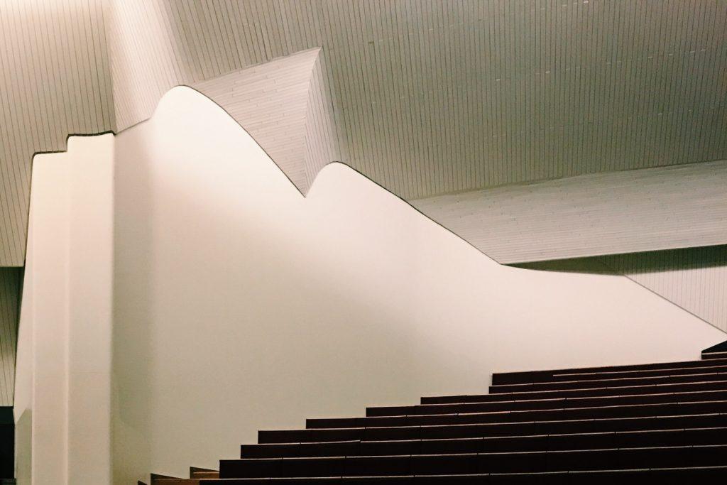 obras de alvar aalto: casa da cultura - escada