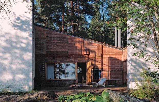 obras de alvar aalto: casa experimental muuratsalo - entrada
