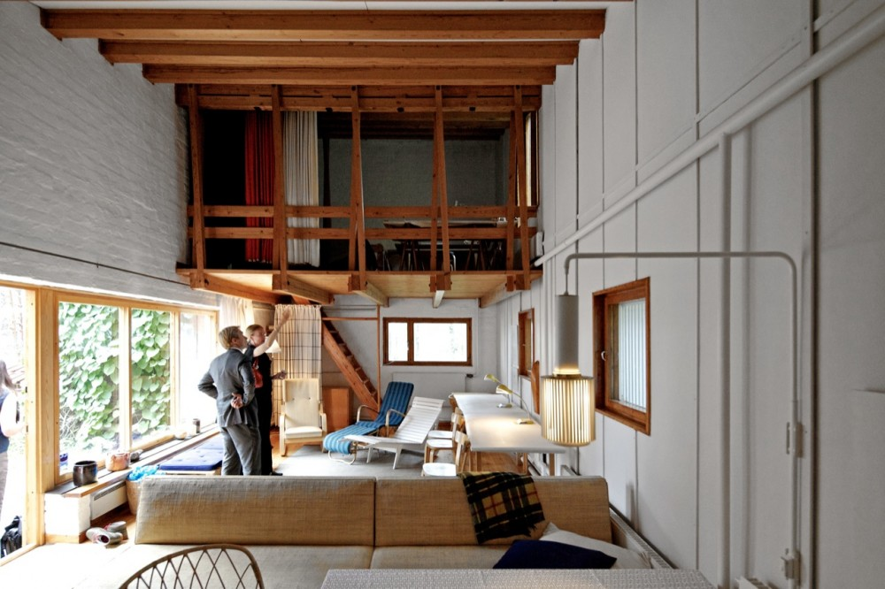 obras de alvar aalto: casa experimental muuratsalo - interior