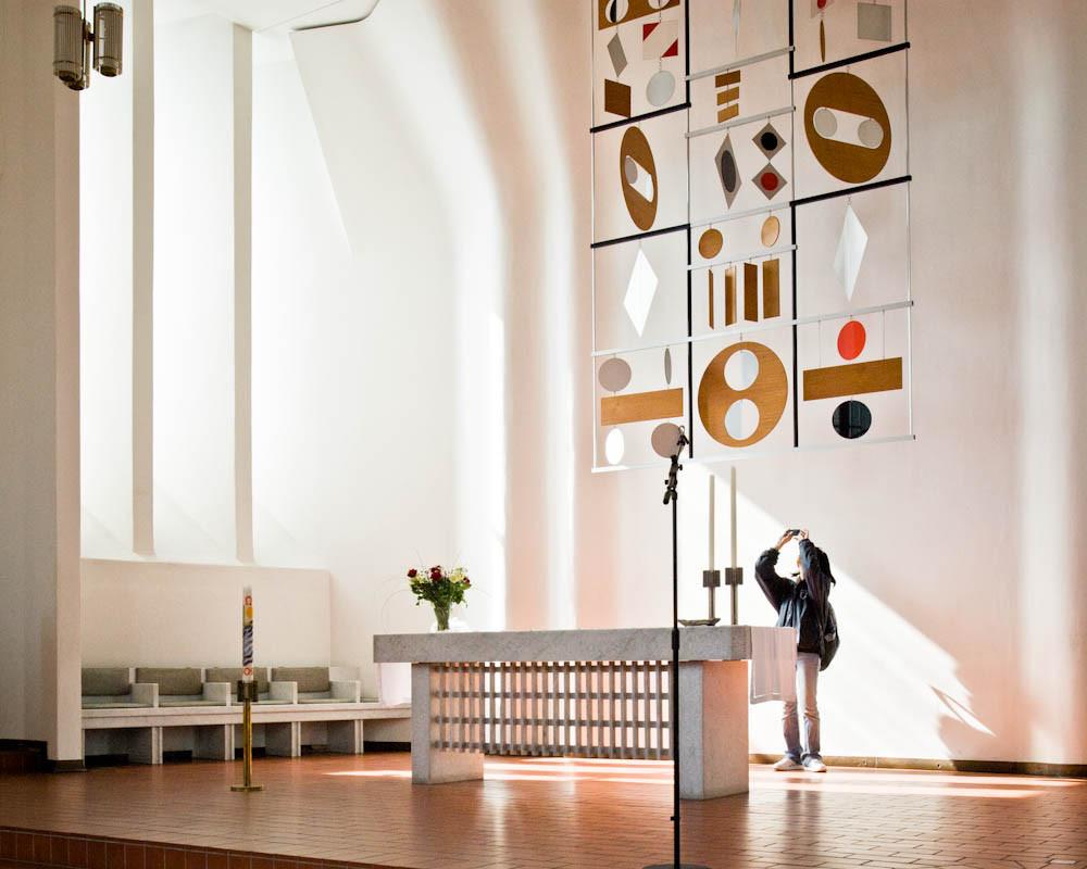 obras de alvar aalto: stephanuskirche - altar