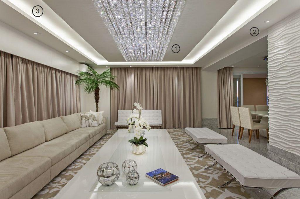 projeto-de-iluminacao-de-sala-de-estar-lustre-de-cristal-e-sanca