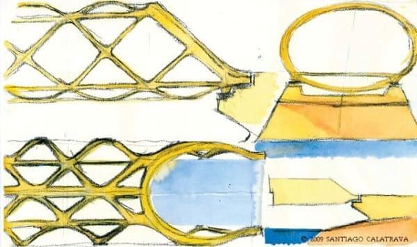 Croqui arquitetura: Santiago Calatrava