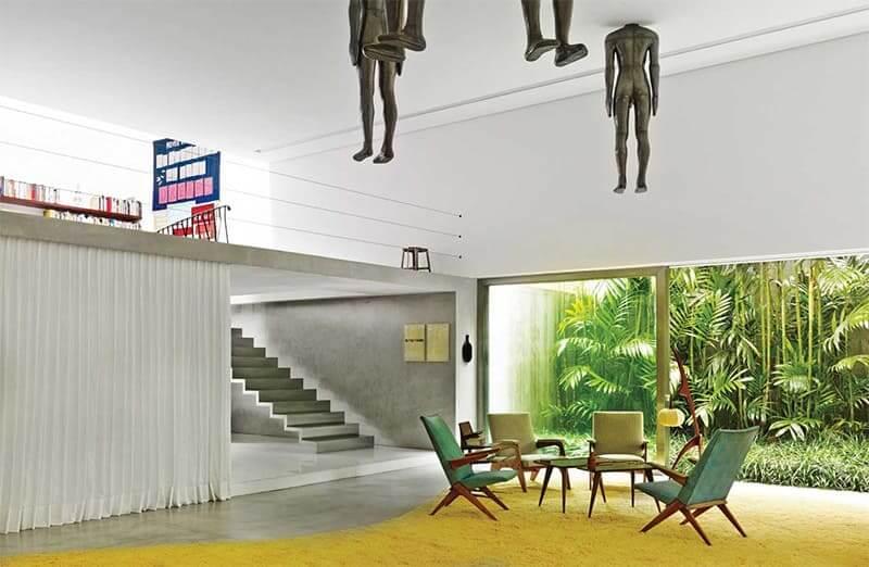 Isay Weinfeld: Casa Cubo - sala