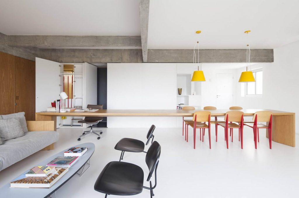 ar arquitetos: apartamento pantone - sala
