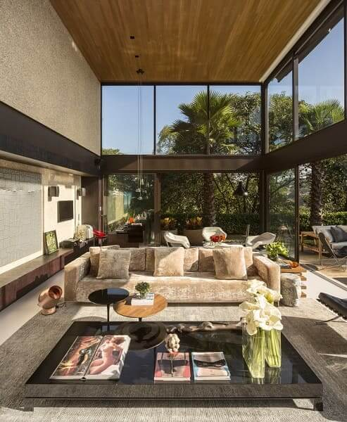 Fernanda Marques: Casa Limantos - sala de estar
