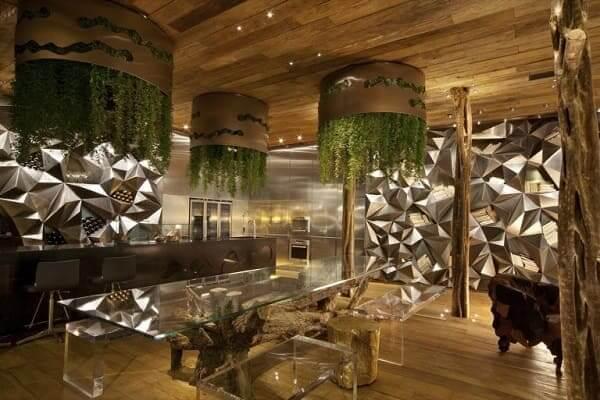 Fernanda Marques: loft de inverno prata e madeira