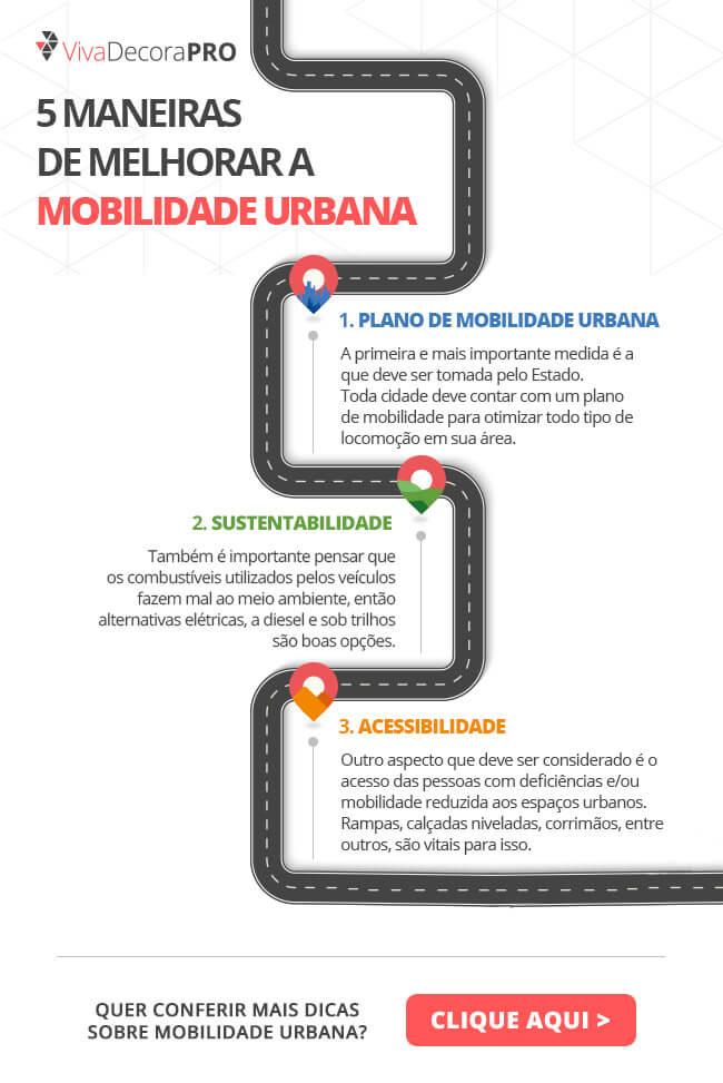 Infográfico - 5 Maneiras de Melhorar a Mobilidade Urbana