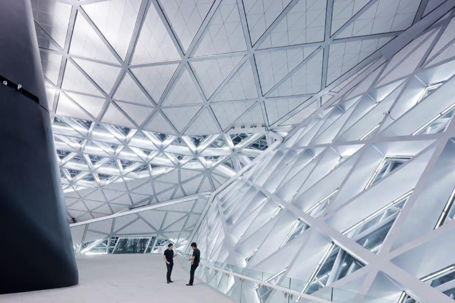 Zaha Hadid: Interior do Guangzhou Ópera House