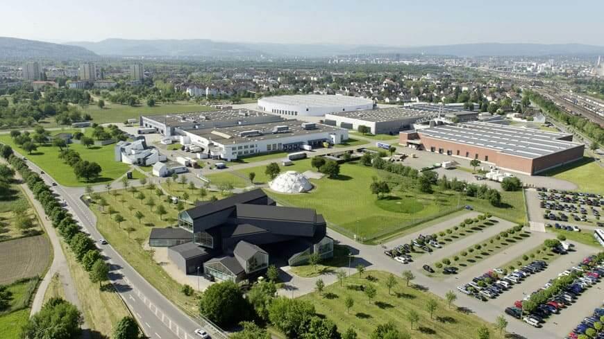 Zaha Hadid: Vista aérea do Vitra Campus