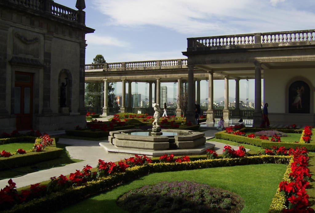 arquitetura-mexicana-palacio-de-chapultepec-jardins