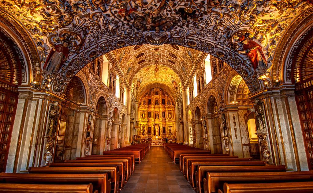 arquitetura-mexicana-santo-domingo-de-guzman-interior