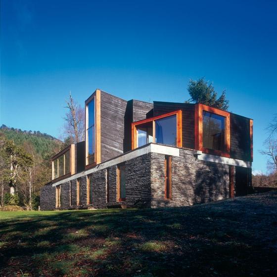 obras de alejandro aravena: casa pirihueico