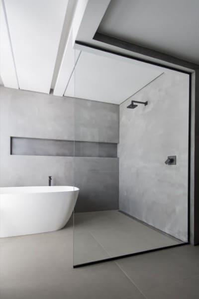 Projeto de banheiro de casal: Banheiro com área de banho dupla