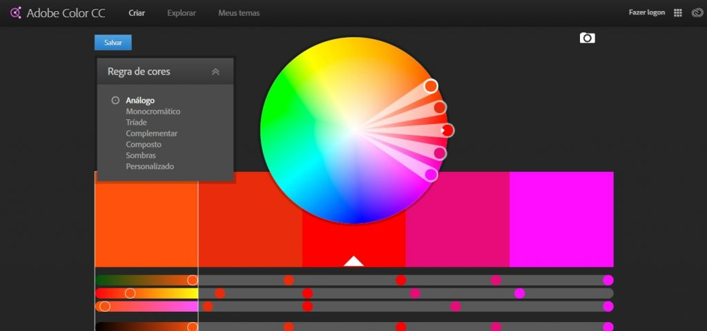Sites para arquitetos: Adobe Color CC