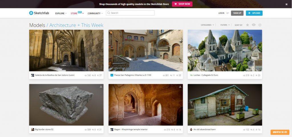 Sites para arquitetos: Sketchfab