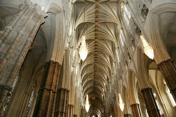 Arquitetura gótica: Abóbada da Abadia de Westminster