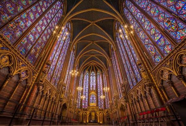 Arquitetura gótica: Vitrais da Sainte Chapelle