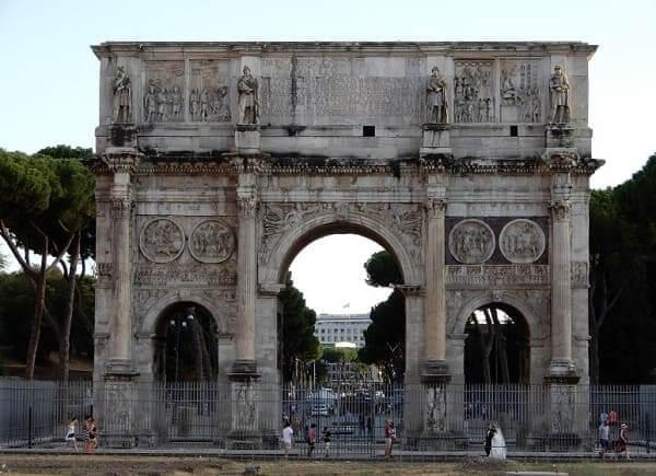 Arquitetura romana: arco de Constantino