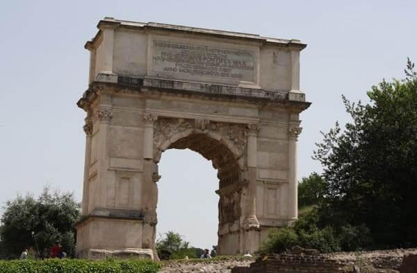 Arquitetura romana: arco de Tito