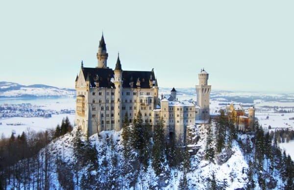 Estilos de arquitetura: Castelo de Neuschwanstein no inverno