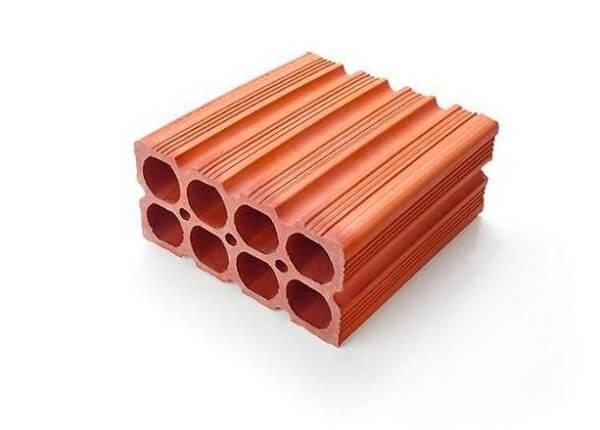 Tijolos por metro quadrado: Tijolo Baiano de 8 furos