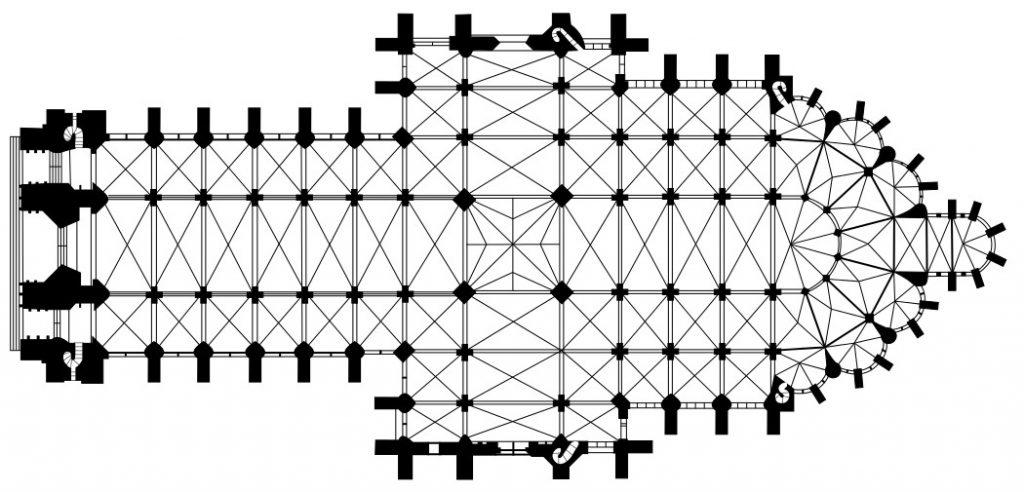 arquitetura-gotica-planta-catedral-de-amiens