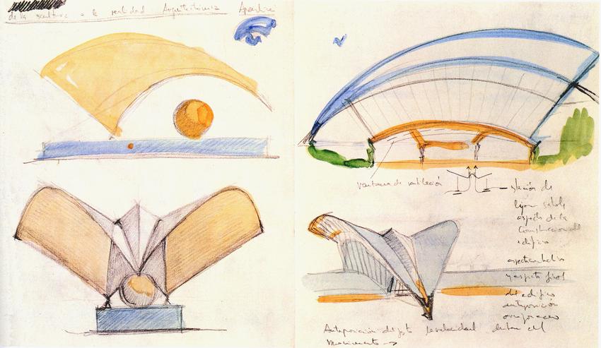 croquis-de-arquitetos-famosos-santiago-calatrava-satolas-airport