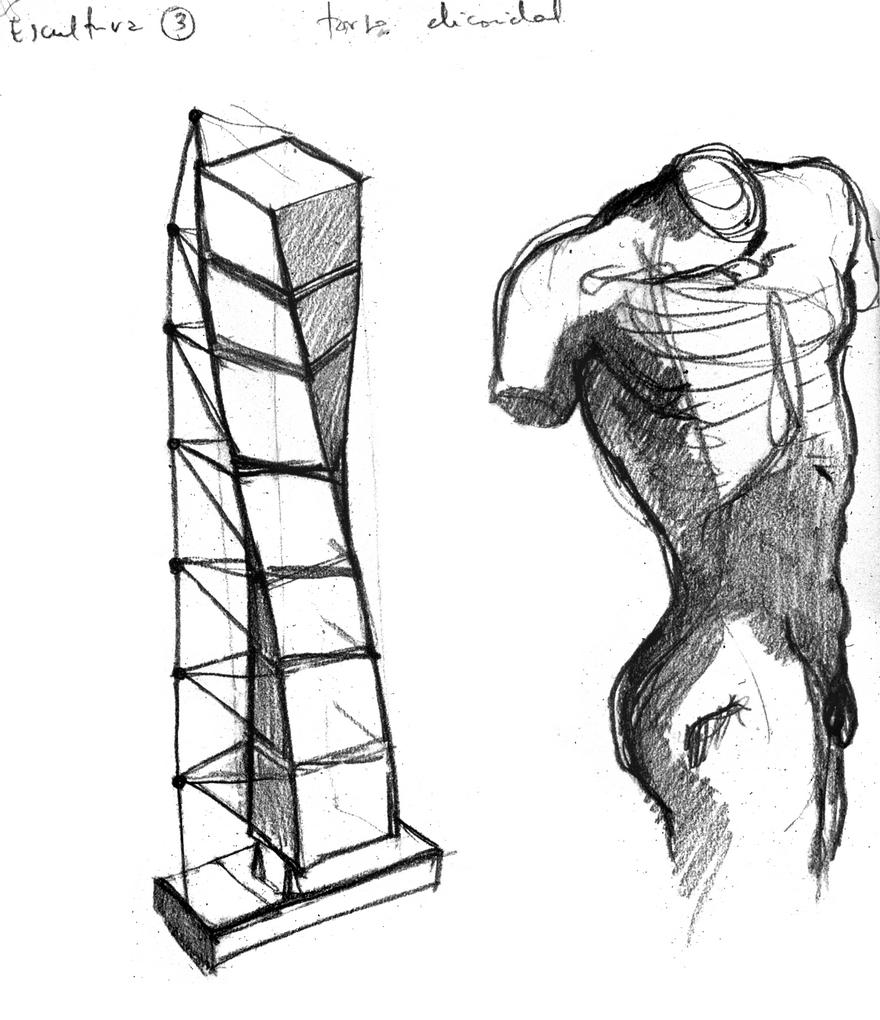 croquis-de-arquitetos-famosos-santiago-calatrava-turning-torso
