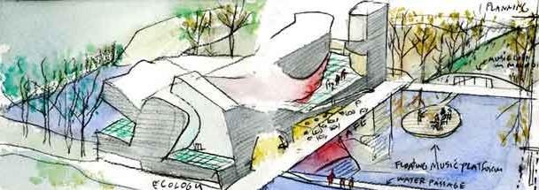 croquis-de-arquitetos-famosos-steven-holl-museu-da-ecologia-tianjin
