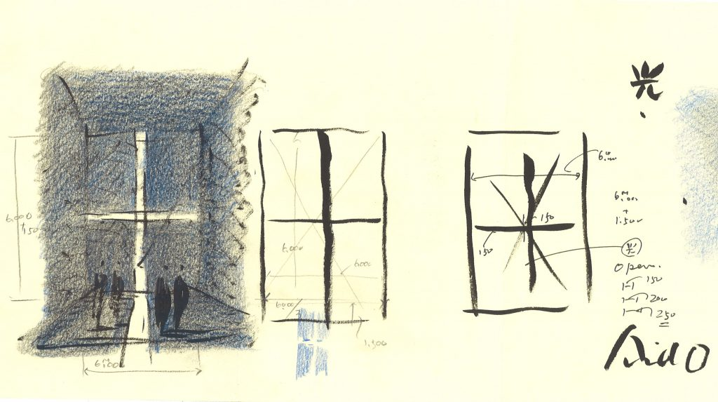 croquis-de-arquitetos-famosos-tadao-ando-church-of-light